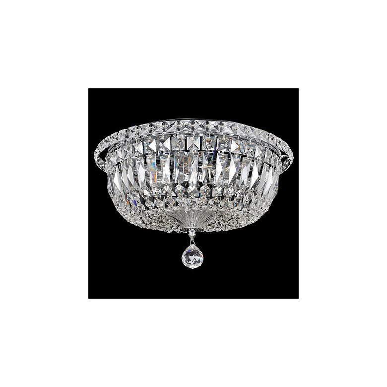 "Allegri Betti 14"" Wide Chrome Crystal Ceiling Light"