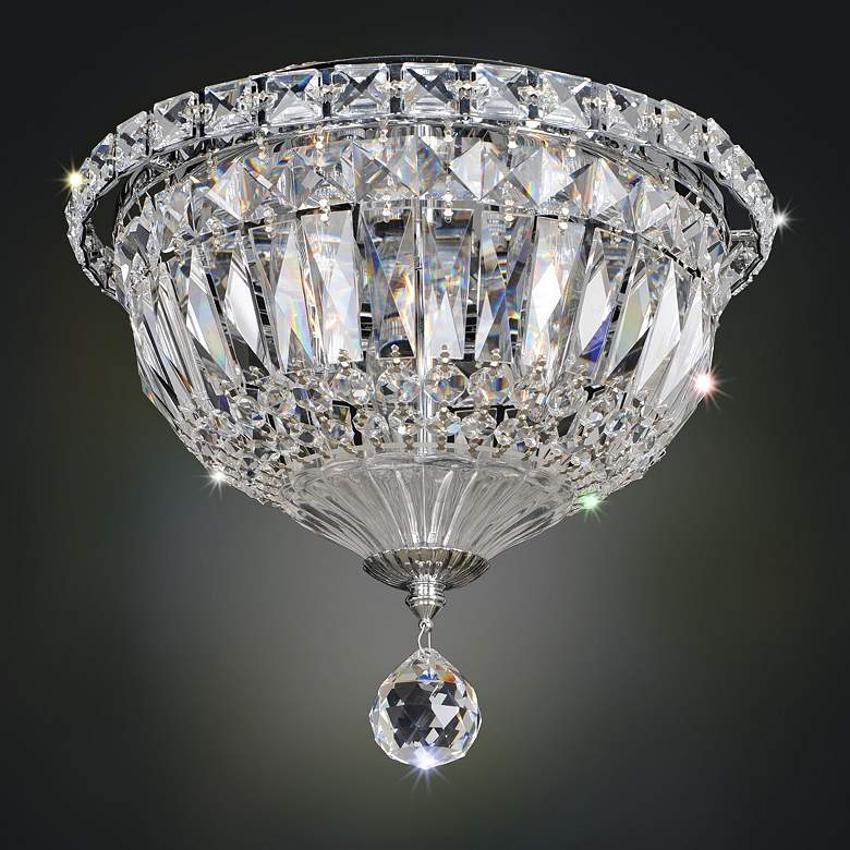"Allegri Betti 10"" Wide Chrome Crystal Ceiling Light"