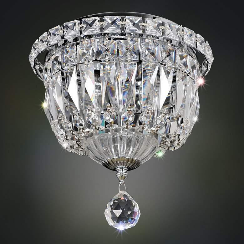 "Allegri Betti 8"" Wide Chrome Crystal Ceiling Light"