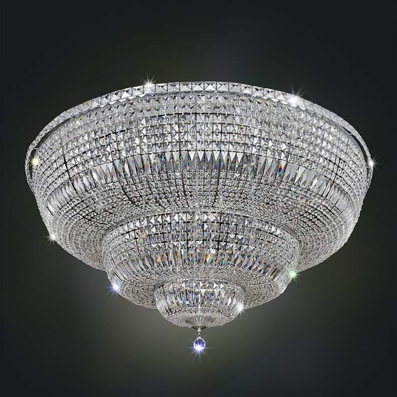 "Allegri Betti 48"" Wide Chrome Crystal Ceiling Light"
