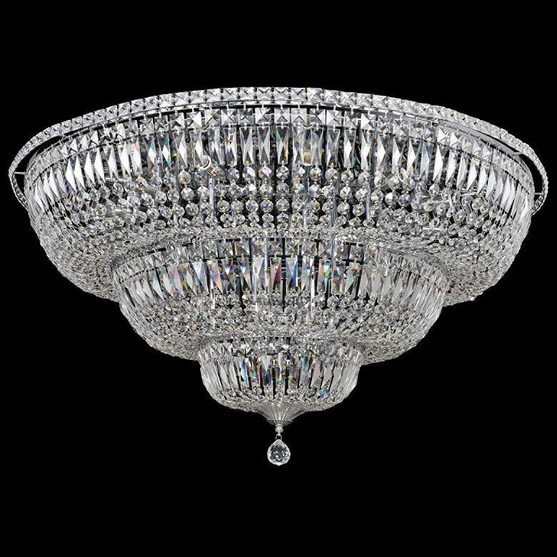 "Allegri Betti 36 1/2"" Wide Chrome Crystal Ceiling Light"