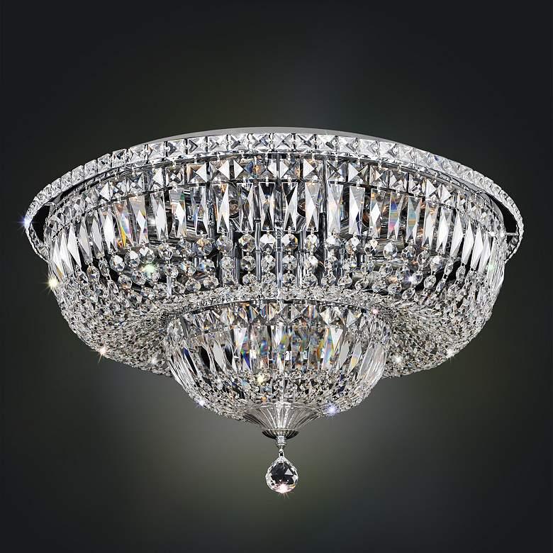 "Allegri Betti 24"" Wide Chrome Crystal Ceiling Light"