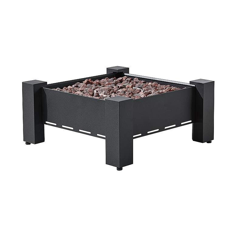 "Paisley 30"" Wide Dark Charcoal Square Outdoor Gas Fire Pit"