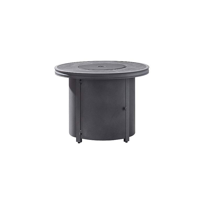 "Davenport 32 3/4"" Wide Gray Round Outdoor Fire Pit Table"