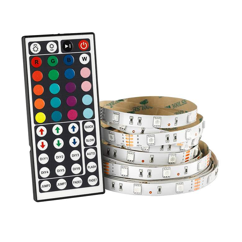 Trim 32.8-Foot RGB Color Changing LED Tape Light with Remote