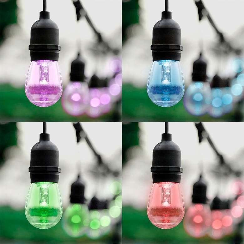 12-Light 24' Black S14-II RGB Outdoor LED String Light Set