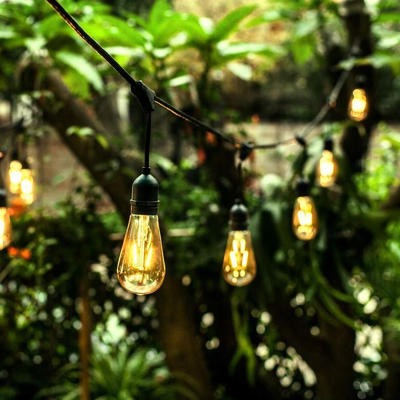 24-Light 48-Foot Black Outdoor LED String Light Set