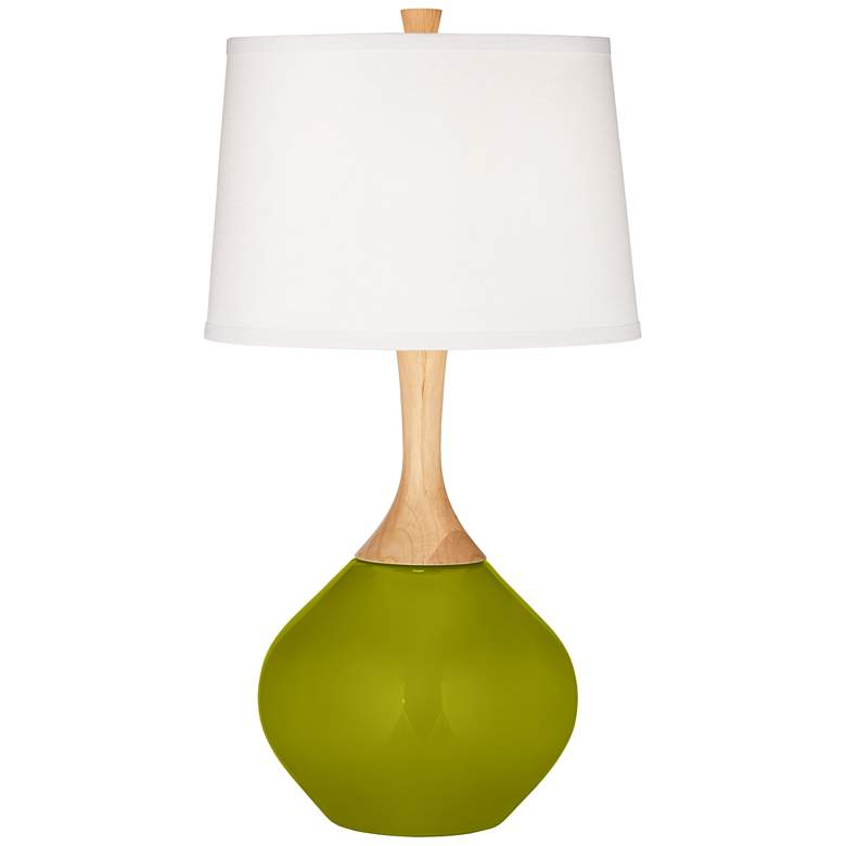 Olive Green Wexler Table Lamp with Dimmer
