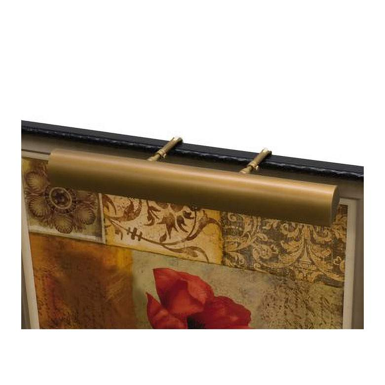 """Classic Traditional 24"""" Wide Weathered Brass Picture Light"""