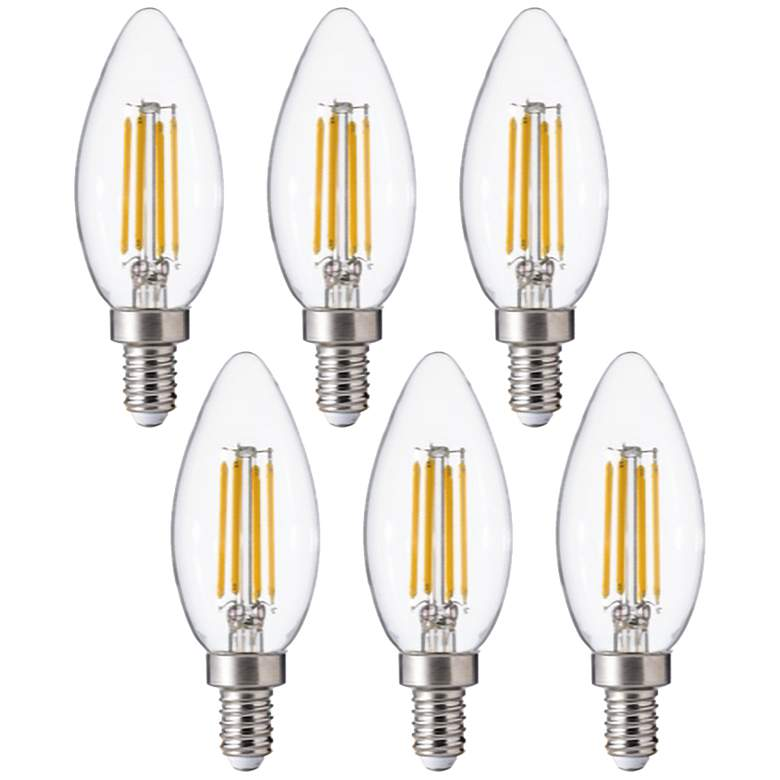 60W Equivalent Clear 5W 12 Volt LED Non-Dimmable E12 6-Pack