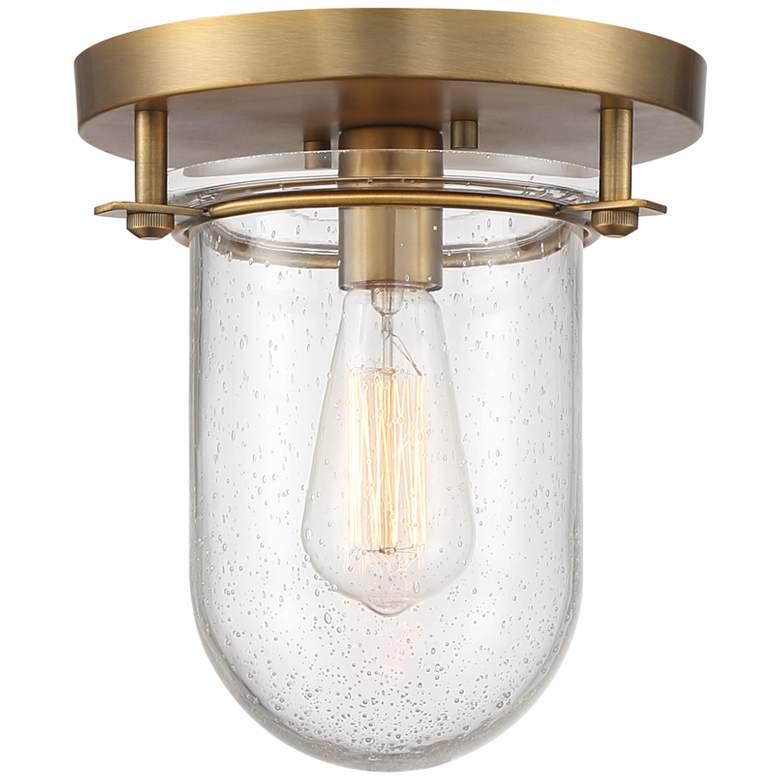 """Possini Euro Melkin 9 1/4"""" Wide Warm Brass Ceiling Light"""