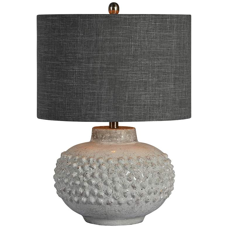 Forty West Scarlett White Concrete Table Lamp