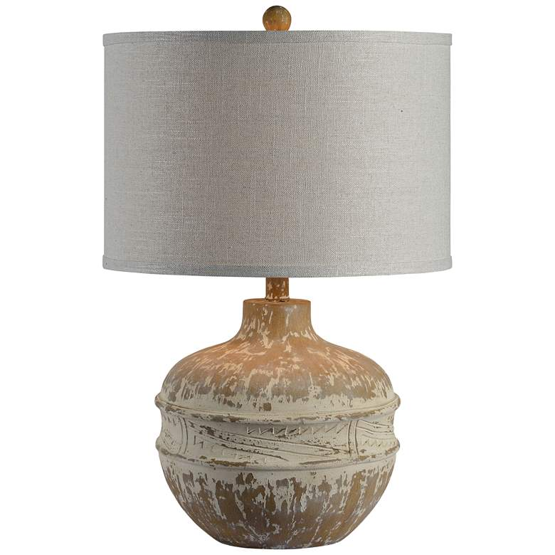 Forty West Tupelo Distressed Cream Table Lamp