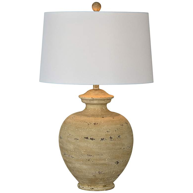 Forty West Memphis Distressed Sand Jar Table Lamp