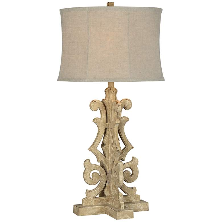 Forty West Penelope Distressed Sand Table Lamp