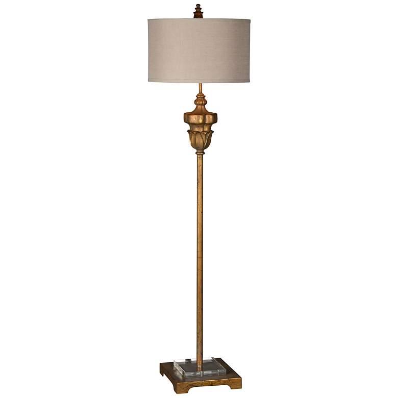 Harvey Old World Gold Stem Floor Lamp