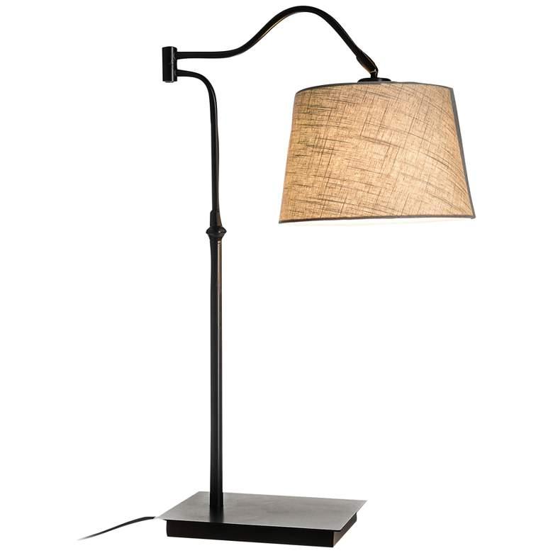 Lite Source Trenton Black Swing Arm Metal Desk Lamp