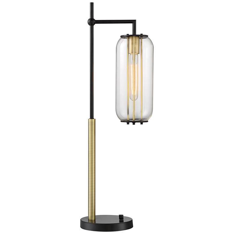 Lite Source Hagen Black and Antique Brass Desk Lamp