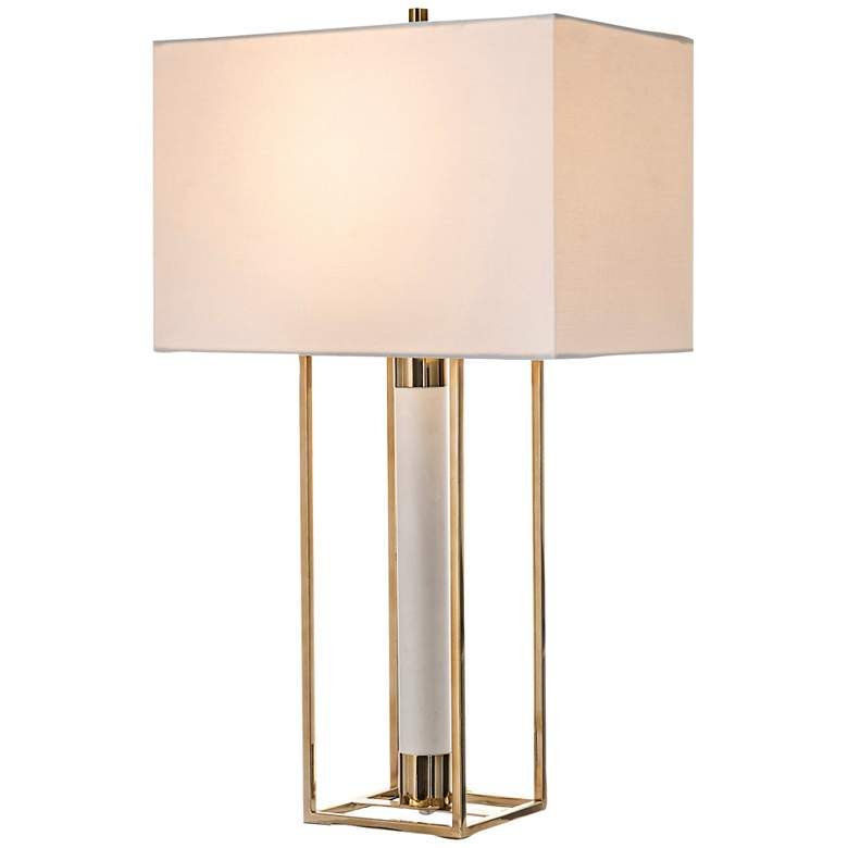 Lite Source Noreen Polished Gold Open Frame Table Lamp