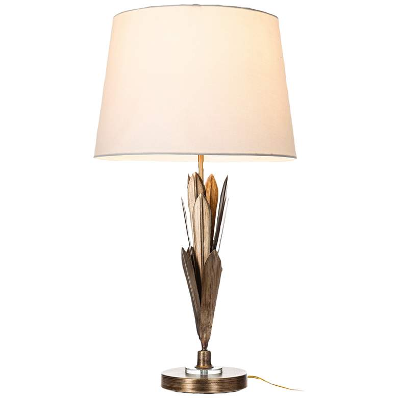 Lite Source Laila Antique Champagne Leaves Table Lamp