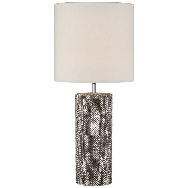 Lite Source Dustin Dark Brown Ceramic Column Table Lamp