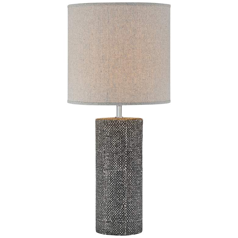 Lite Source Dustin Gray Pedestal Ceramic Column Table Lamp