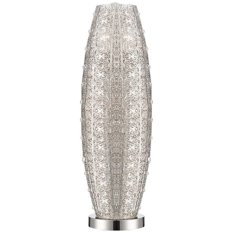 Lite Source Masura Polished Nickel and Crystal Table Lamp