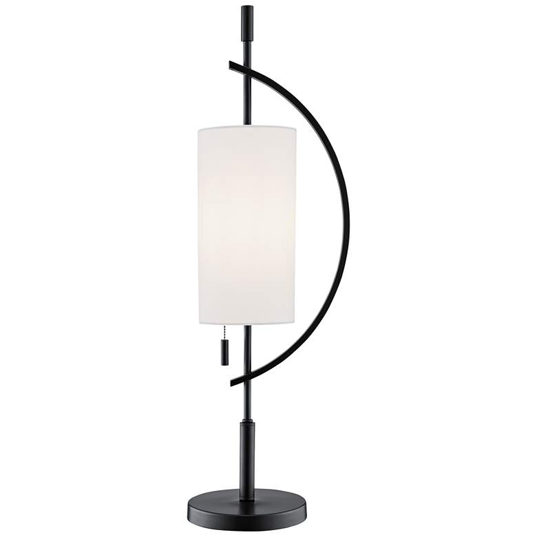 Lite Source Renessa Black and White Table Lamp