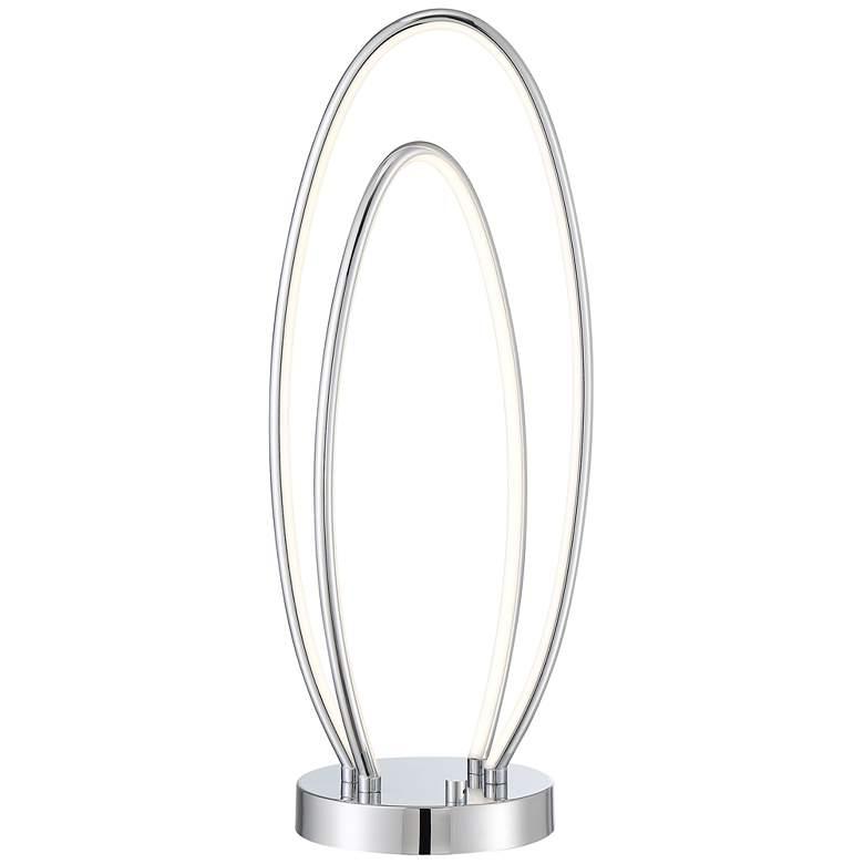 Lite Source Rhea Chrome Intertwined Oval LED Table Lamp
