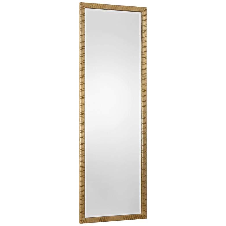 "Uttermost Vilmos Metallic Gold Leaf 24"" x 72"" Wall Mirror"