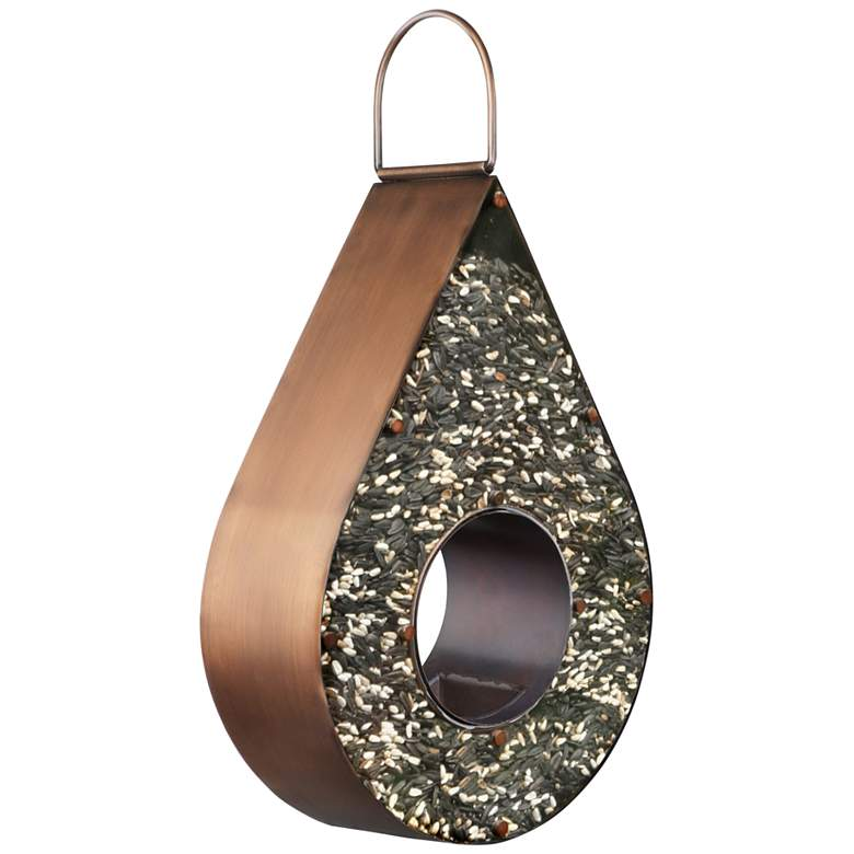 Teardrop Fly-Thru™ Copper Metal Bird Feeder