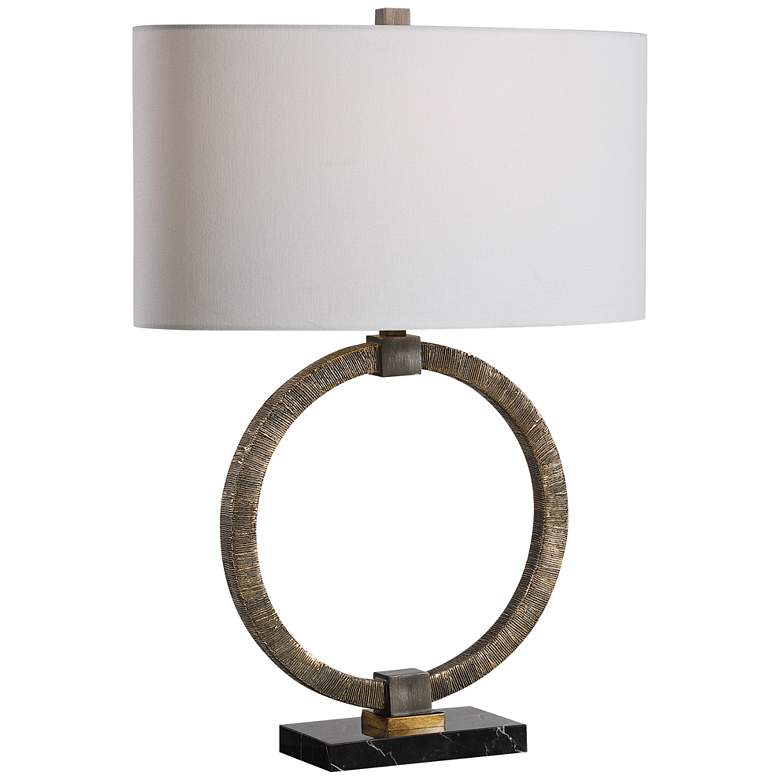 Uttermost Relic Antiqued Gold and Black Table Lamp