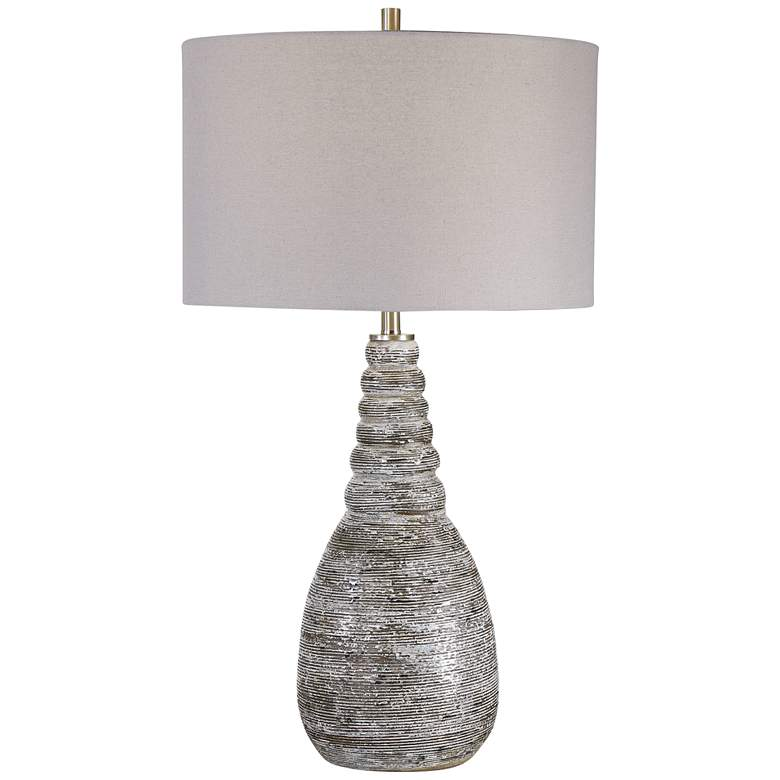 Uttermost Arapahoe Rust Brown and Light Gray Table Lamp