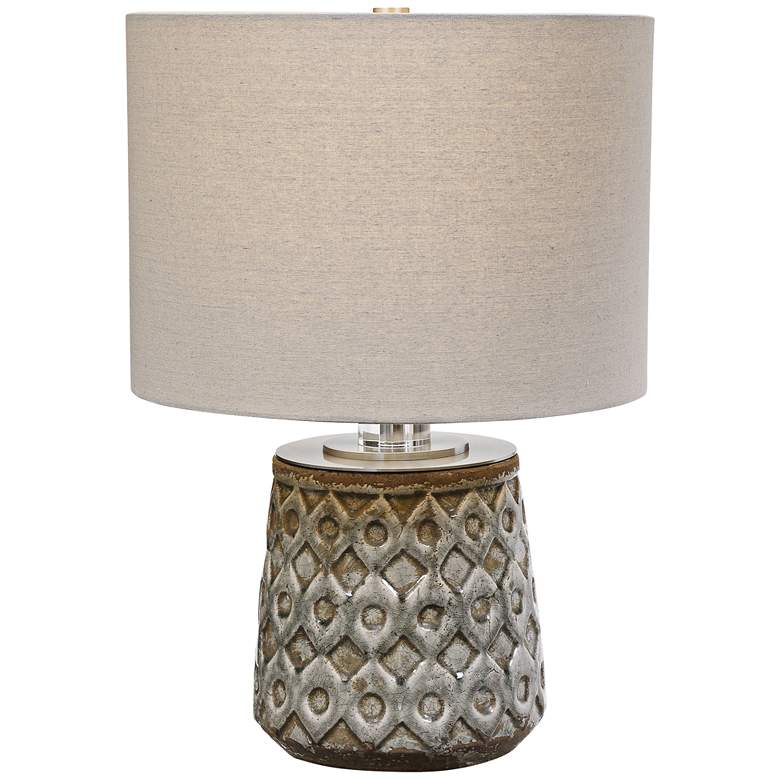 Uttermost Cetona Old World Blue-Gray Accent Table Lamp
