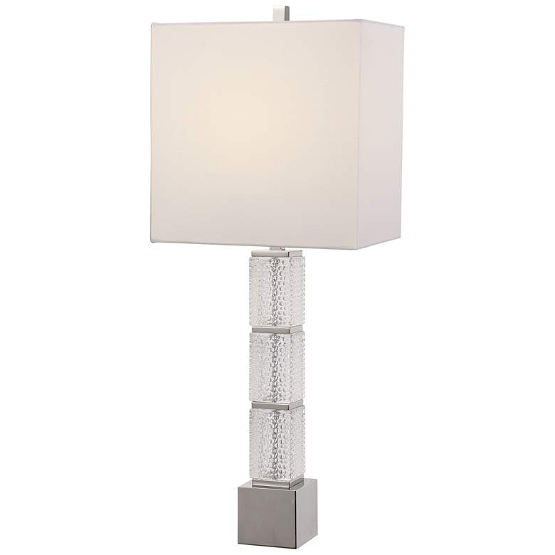 Uttermost Dunmore Textured Dimpled Glass Table Lamp