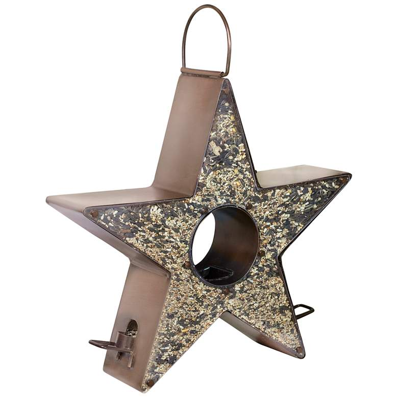 Star Fly-Thru™ Copper Metal Bird Feeder