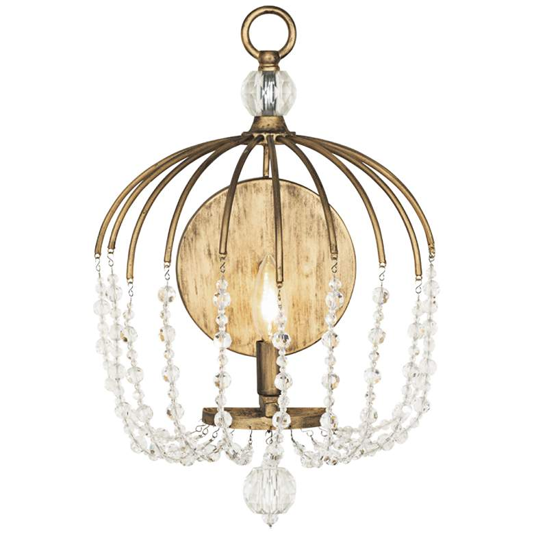 "Varaluz Voliere 17"" High Havana Gold Wall Sconce"