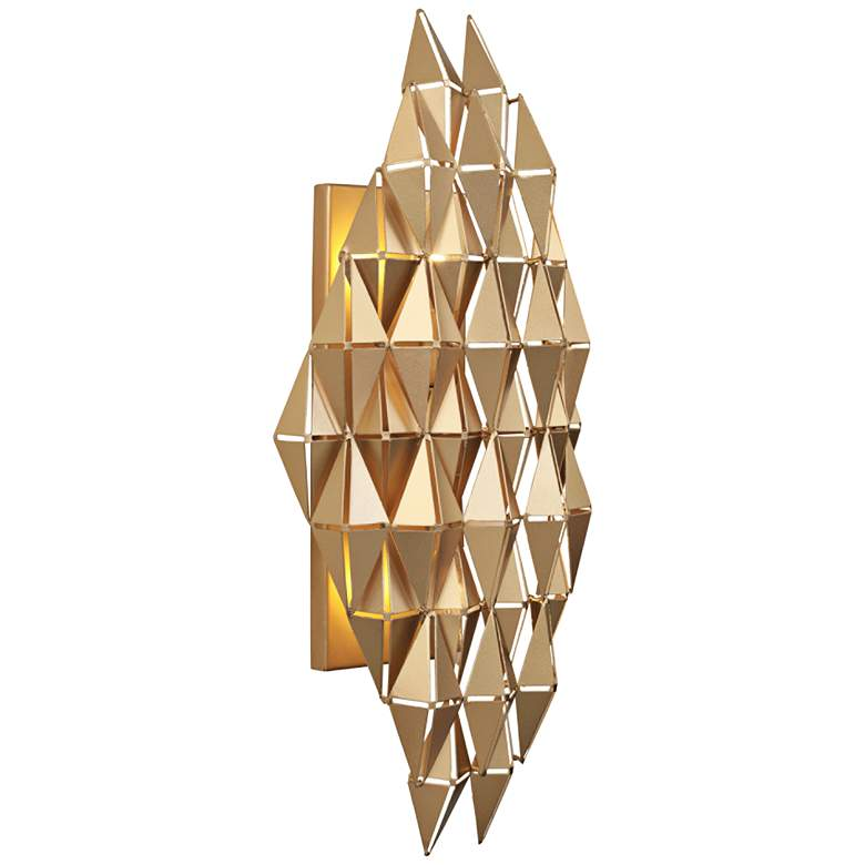 """Varaluz Forever 21"""" High French Gold 2-Light Wall Sconce"""