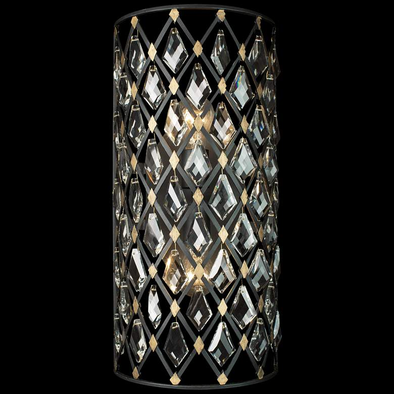 "Varaluz Windsor 21"" High Carbon and Havana Gold 2-Light Wall Sconce"