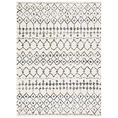 Surya Maroc Shag MRS-2310 5'x8' Gray and White Area Rug