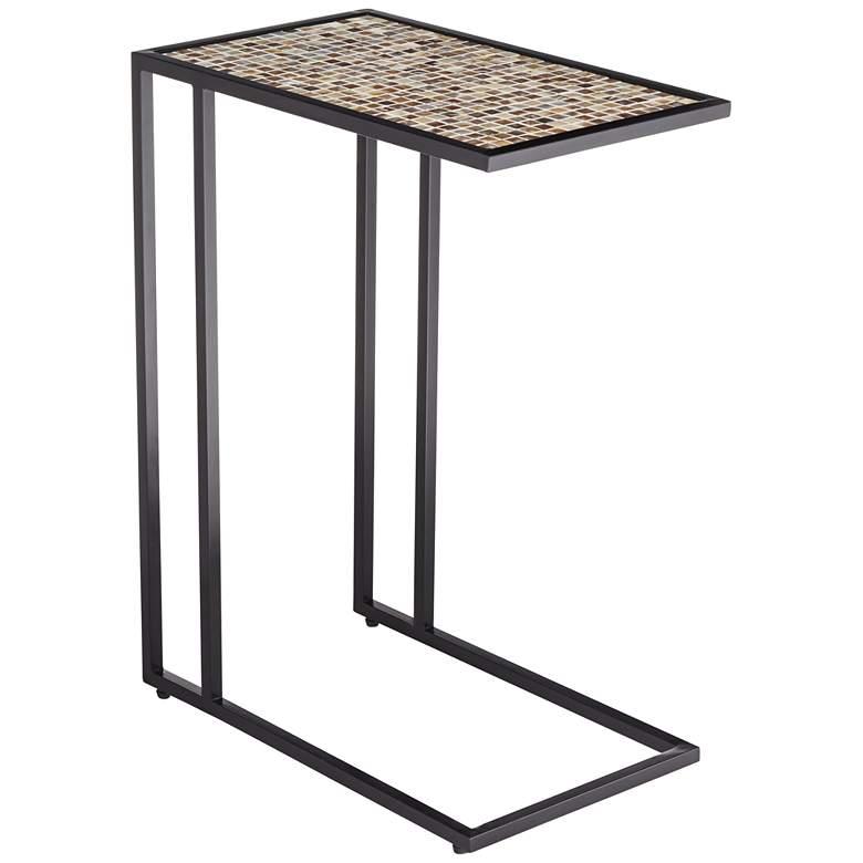 Ikonois Mosaic Tile Top C-Frame Side Table