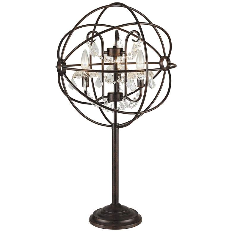 Lite Source Winona Antique Bronze Chandelier Table Lamp