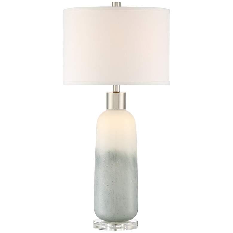 Lite Source Mouna Jade Glass Table Lamp with Night Light