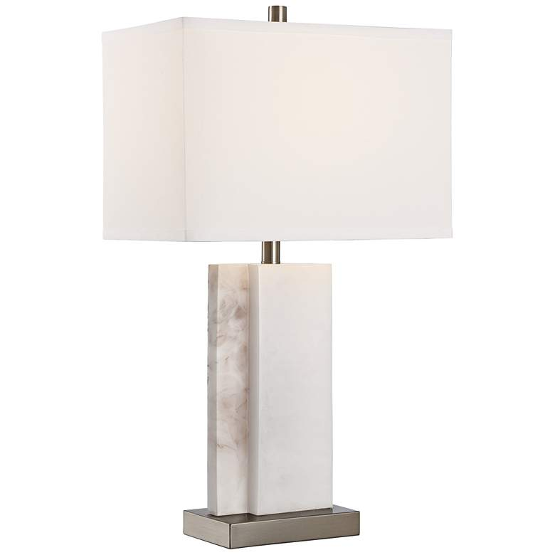 Lite Source Dacey Marble Lucite Table Lamp