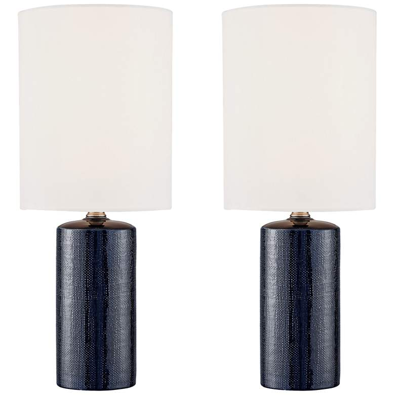 "Jackie 19"" High Navy Blue Accent Table Lamps Set of 2"