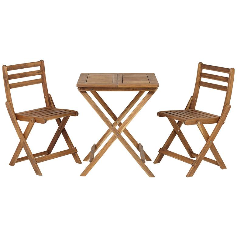 Wood Bistro Table and Chairs Set by Teal Island