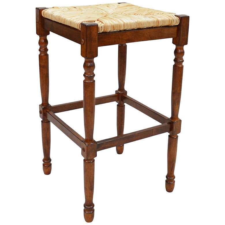 "Thomasville 29 1/4"" Chestnut Wood Barstool"