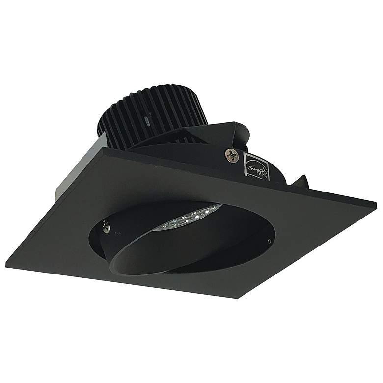 """Iolite HL 4"""" Black LED Square Cone Regress Adjustable Trim"""