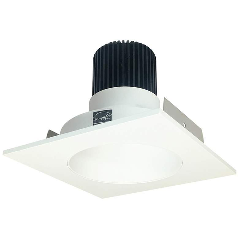 "Iolite HL 4"" Matte White LED Square-Round Reflector"