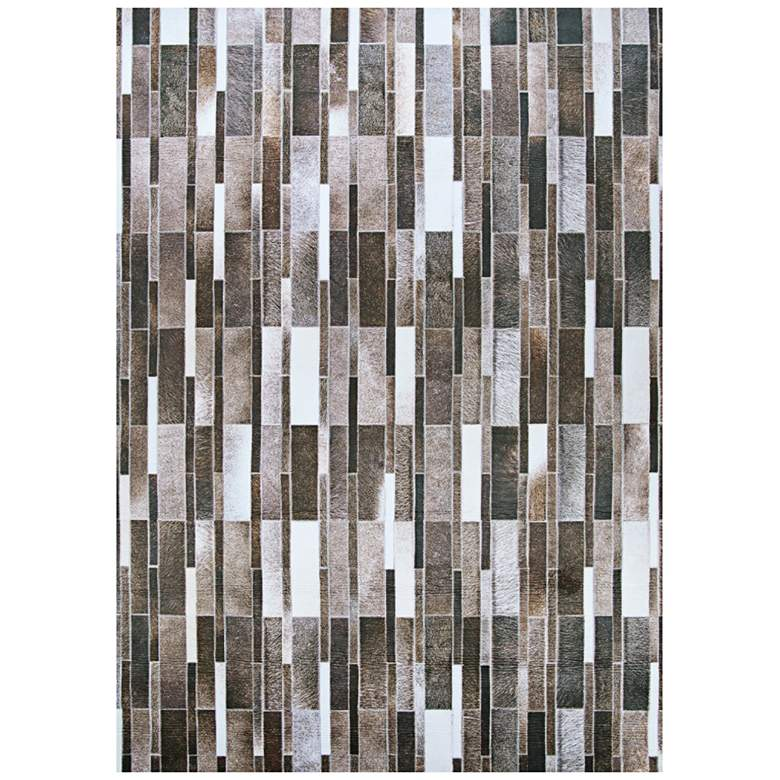 """Prairie Nordic 5'3""""x7'6"""" Gray and Brown Cowhide Area Rug"""